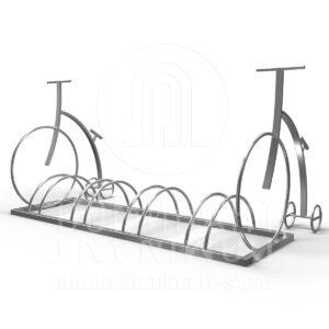 Велопарковка на 4 места с двумя велосипедами D.11.005.304p