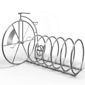 Велопарковка на 5 мест с велосипедом D.11.004.304